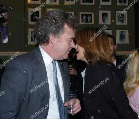 Stock Photo of Party at the Kings Head Pub Upper Street Islington Following the Premiere of I'll Sleep When I'am Dead at the Screen On the Green Anthony Palliser & Charlotte Rampling