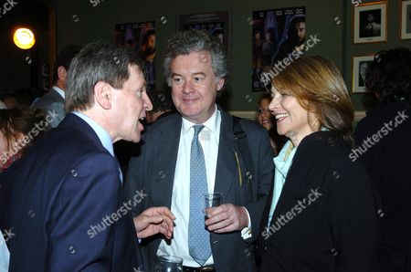 Stock Image of Party at the Kings Head Pub Upper Street Islington Following the Premiere of I'll Sleep When I'am Dead at the Screen On the Green Alan Price Anthony Palliser & Charlotte Rampling