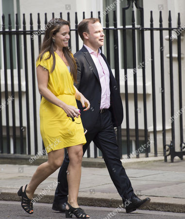Craig Oliver and David Cameron's Press Secretary Susie Squire Arrive For the National Security Meeting at Number 10 Downing Street
