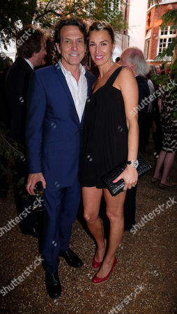Stock Photo of The Spectator Magazine Summer Party at Their Office in Old Queen Street Westminster London Stephen Webster with His Wife Anastasia