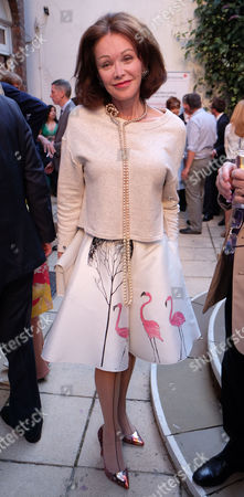 Stock Image of The Spectator Magazine Summer Party at Their Office in Old Queen Street Westminster London Barbara Amiel