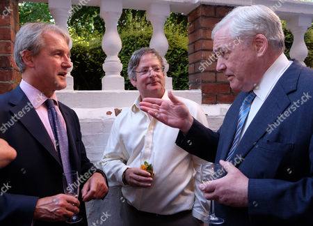 The Spectator Magazine Summer Party at Their Office in Old Queen Street Westminster London Owen Patterson Mp Dominic Lawson & Conrad Black