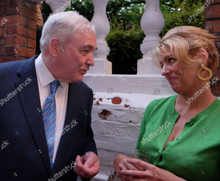 The Spectator Magazine Summer Party at Their Office in Old Queen Street Westminster London Conrad Black and Petronella Wyatt