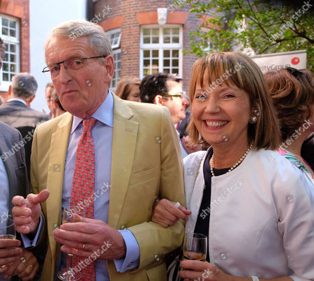 The Spectator Magazine Summer Party at Their Office in Old Queen Street Westminster London Sir Christopher Meyer and His Wife Catherine Meyer