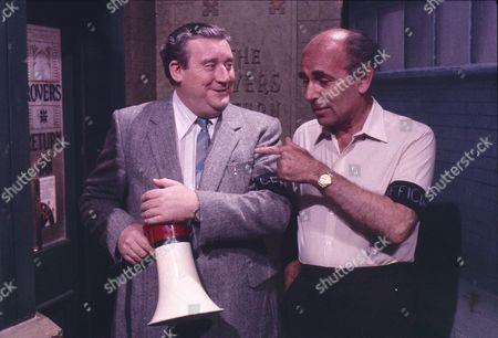 Coronation Street Olympics, Rovers Return vs Flying Horse, Bryan Mosley (as Alf Roberts) and Richard Klee (as Sid Duffy)
