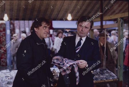 Stock Photo of William Tarmey (as Jack Duckworth) and Peter Childs (as Frank Tyler)