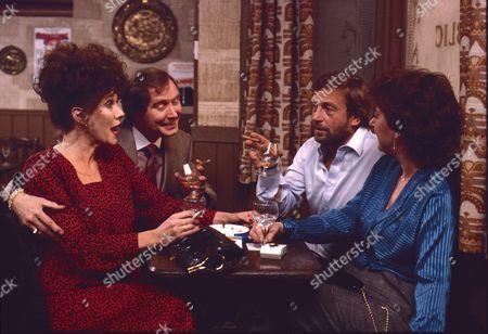 Stock Image of Linda Marlowe (as Marje Collier), Colin Edwynn (as Bernie Fisher), Kenneth Farrington (as Billy Walker) and Cast Member.