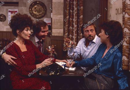 Linda Marlowe (as Marje Collier), Colin Edwynn (as Bernie Fisher), Kenneth Farrington (as Billy Walker) and Cast Member.