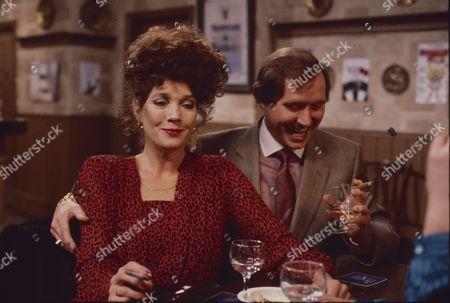Linda Marlowe (as Marje Collier) and Colin Edwynn (as Bernie Fisher)