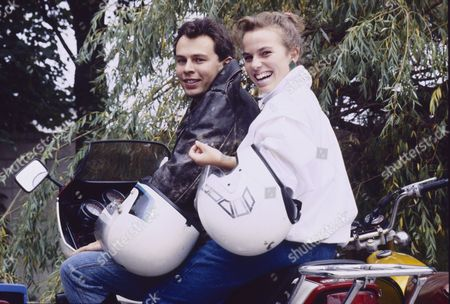 Stock Picture of Paul Elsam (as Dazz Ishewrwood) and Sue Devaney (as Debbie Webster)