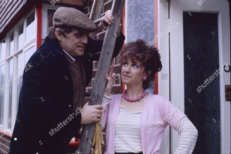 William Tarmey (as Jack Duckworth) and Marji Campi (as Dulcie Froggatt)
