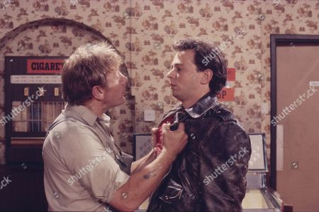 Peter Armitage (as Bill Webster) and Paul Elsam (as Dazz Isherwood)