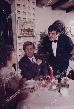 Thelma Barlow (as Mavis Riley)  Peter Baldwin (as Derek Wilton) and Ray Marioni (as Leonardo)