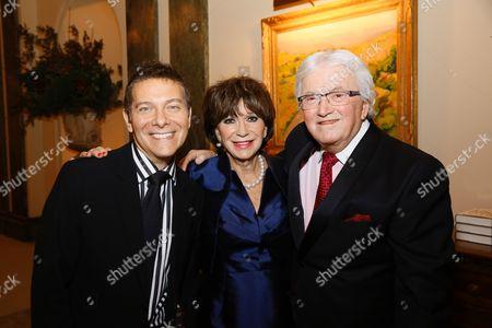 Michael Feinstein, Yvonne Romain and Leslie Bricusse