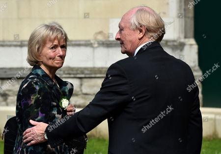 London, England 20th June 2016: Glenys Kinnock and Neil Kinnock at St Margaret's Church On June 20, 2016 in London, England.