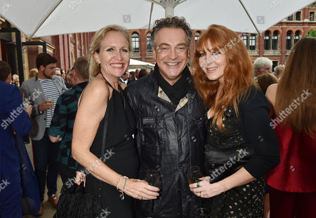 Stock Photo of London, England, 22th June 2016: Imogen Edwards-jones, Kenton Allen and Charlotte Tilbury at the V&a Summer Party, London On the 22nd June 2016.