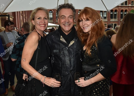 Stock Picture of London, England, 22th June 2016: Imogen Edwards-jones, Kenton Allen and Charlotte Tilbury at the V&a Summer Party, London On the 22nd June 2016.