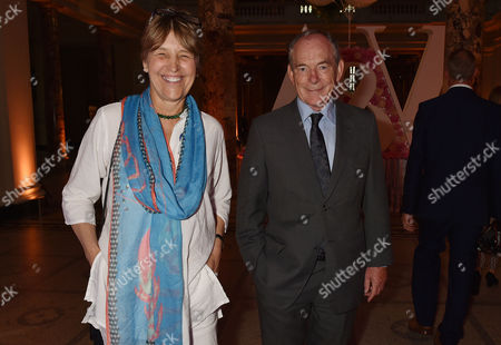 London, England, 22th June 2016: Claire Waldegrave and Sir Simon Jenkins at the V&a Summer Party, London On the 22nd June 2016.