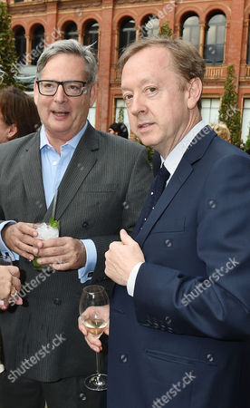 London England 22nd June 2016 - Dominic Lawson and Geordie Grieg at the Victoria and Albert Museum Summer Party Held at the V&a in London On the 22nd June 2016.