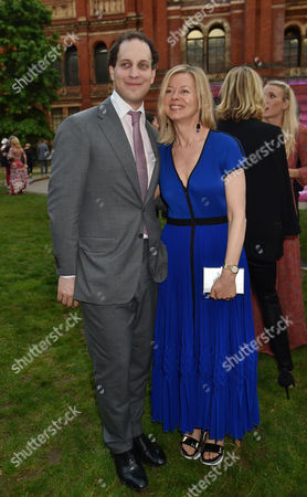 London England 22nd June 2016 - Freddie Windsor with His Cousin, Lady Helen Windsor at the Victoria and Albert Museum Summer Party Held at the V&a in London On the 22nd June 2016.