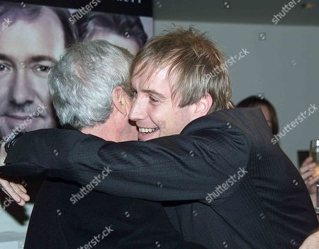 Uk Premiere of the Shipping News in Aid of the Old Vic Theatre A Pre Screening Cocktail Party at the Met Bar Old Park Lane Followed by A Party in the Ballroom of Claridges After the Premiere Rhys Ifans Greets Co Star Gordon Pinsent