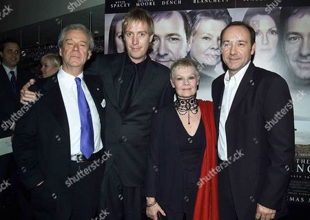 Uk Premiere of the Shipping News in Aid of the Old Vic Theatre A Pre Screening Cocktail Party at the Met Bar Old Park Lane Followed by A Party in the Ballroom of Claridges After the Premiere Gordon Pinsent Rhys Ifans Dame Judi Dench & Kevin Spacey