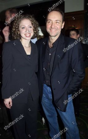 Unite For the Future at the Old Vic Committee Headed by Mrs Sarah Farish Wife of the American Ambassdor Chelsea Clinton Arrives Sally Greene of the Old Vic with Chelsea Clinton & Harry Goldsmith Koo Stark Joely Richardson Venessa Redgrave with Biana Jagger Nicky Haslem Finale On Stage Kevin Spacey Art Garfunkel Des'ree Judi Dench Scott Dugray & Sophie Dahl Party at Ivy Chelsea Meets London Socety Also Joins in with the London Gospel Choir 18/11/2001 Chelsea with Kevin Spacey