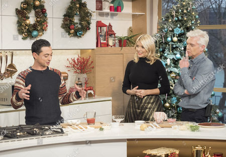 Phillip Schofield and Holly Willoughby with Theo Michaels