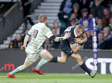 Stock Picture of Henry Hughes scores the 1st Oxford Try