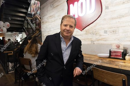 Sir Charles Dunstone, a joint venture partner, at the opening of the MOD pizza parlour in Leicester Square.