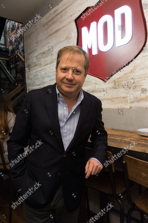 Stock Photo of Sir Charles Dunstone, a joint venture partner, at the opening of the MOD pizza parlour in Leicester Square.