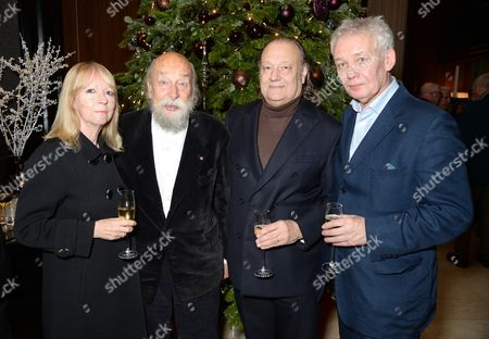 Stock Image of Helen Chambers, Roy Ackerman and David Chambers with guest