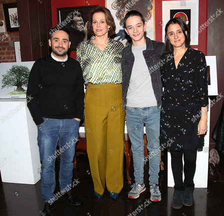 Stock Picture of J.A. Bayona (Director), Sigourney Weaver, Lewis MacDougall and Belen Atienza (Producer)