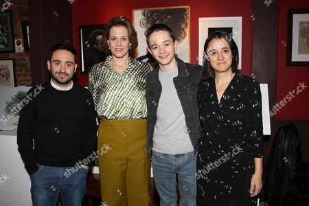 J.A. Bayona (Director), Sigourney Weaver, Lewis MacDougall and Belen Atienza (Producer)
