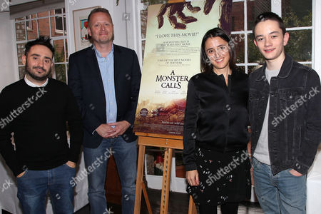 J.A. Bayona (Director), Patrick Ness (Writer), Belen Atienza (Producer) and Lewis MacDougall