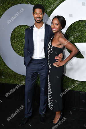 Stock Picture of Alfred Enoch and Aja Naomi King