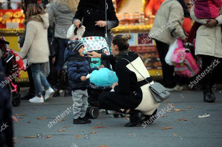 Melissa Satta takes her son Maddox Prince-Boateng Boateng