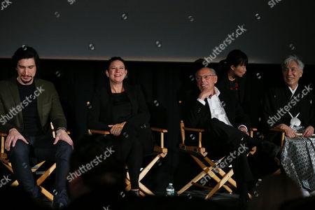 Adam Driver, Emma Tillinger Koskoff, Irwin Winkler, Issey Ogata
