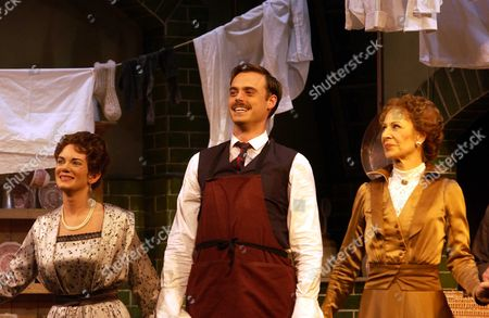 Curtain Call For Somerset Maugham's Home & Beauty at the Lyric Theatre Shaftsbury Ave London Jamie Theakston with Co-stars Jane How(r) and Victoria Hamilton Take Thier Bows After the 1st Night's Performance