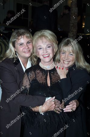 Ist Night of 'Over the Moon' at the Old Vic and Party at Thye Waldorf Hotel Moira Lister with Her Daughters Christabelle & Chantel D'orthez