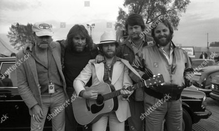 'Capital Radio' Pop Concert in Knebworth the Beach Boys Mike Love Dennis Wilson Alan Jardine Brian Wilson and Carl Wilson