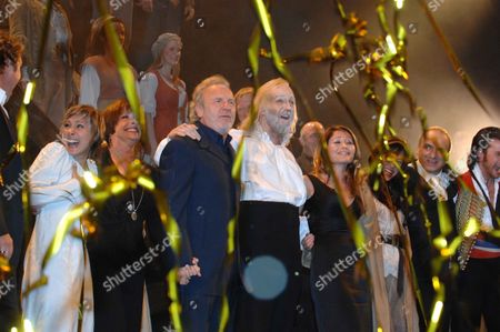 21st Anniversary Show of 'Les Miserables' at the Queens Theatre Shaftsbury Ave London This Makes' Les Miserables' the Worlds Longest Running Musical Taking Over From' Cats' Sophia Ragavelas Patti Lapone Colm Wilkinson & John Owen-jones Francis Raffelle Sabrina Aloueche