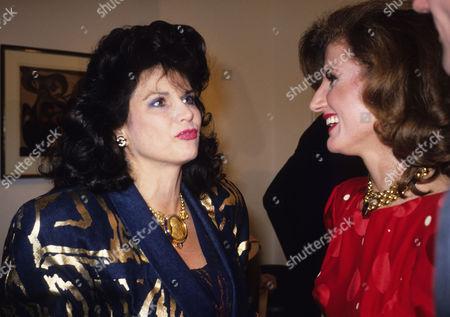 Baroness Sandra Di Portonova and Arianna Stassinopoulos