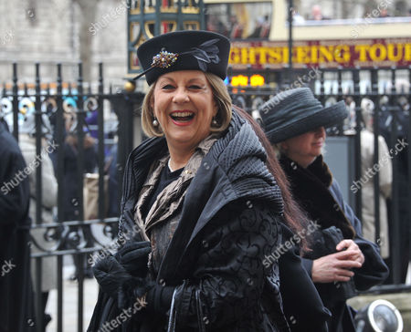 Stock Image of A Service of Thanksgiving For Dame Joan Sutherand at Westminster Abbey Westminster London Valda Wilson