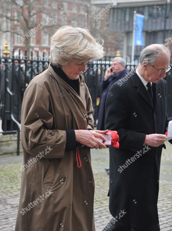 A Service of Thanksgiving For Dame Joan Sutherand at Westminster Abbey Westminster London Lady Jane Fellowes & Her Husband Lord Robert Fellowes