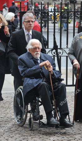 Stock Photo of A Service of Thanksgiving For Dame Joan Sutherand at Westminster Abbey Westminster London George Lascelles 7th Earl of Harewood