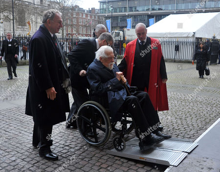 Stock Image of A Service of Thanksgiving For Dame Joan Sutherand at Westminster Abbey Westminster London George Lascelles 7th Earl of Harewood