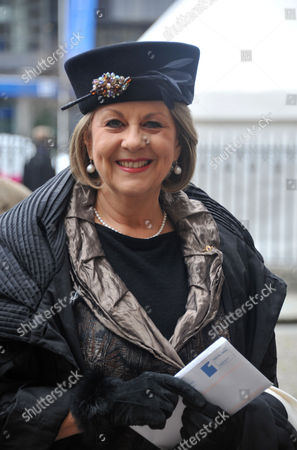 Stock Picture of A Service of Thanksgiving For Dame Joan Sutherand at Westminster Abbey Westminster London Valda Wilson