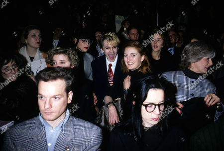 Antony Price Fashion Show Nick Rhodes with His Wife Julie Anne Friedman and Alistair Blair in the Front
