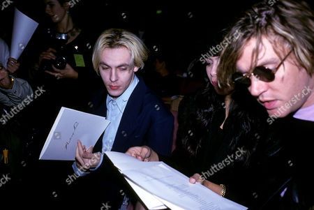 Antony Price Fashion Show Nick Rhodes with His Wife Julie Anne Friedman and Simon Le Bon